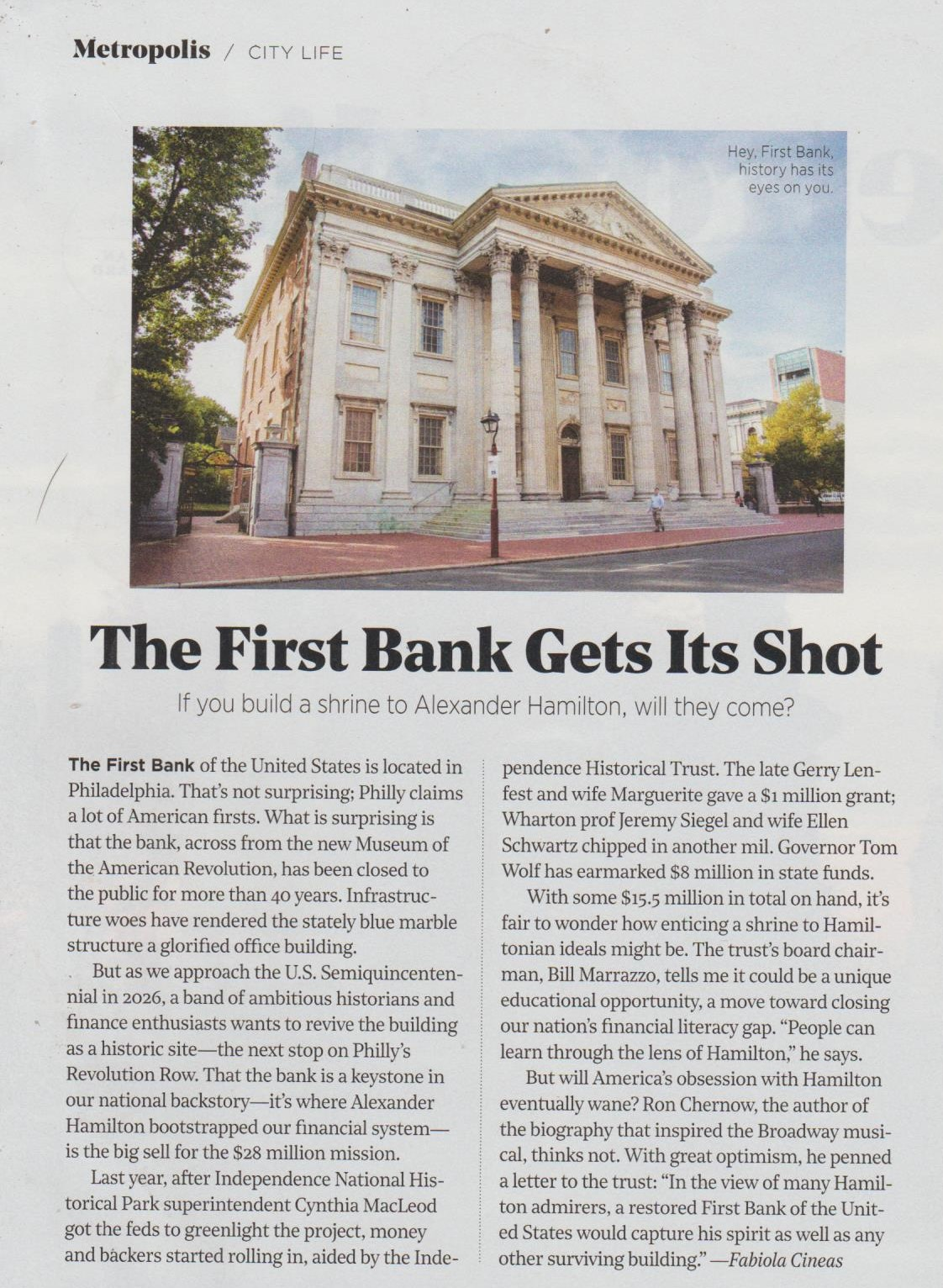 First Bank Article